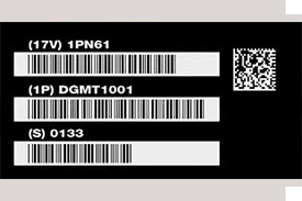 Barcode and UID Plates